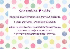 Letni koncert MePZ A Cappella @ Hmeljarski dom Petrovče   Petrovče   Žalec   Slovenija