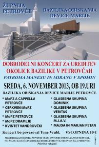 DOBRODELNI KONCERT ZA UREDITEV OKOLICEBAZILIKE V PETROVČAH @ Bazilika Matere Božje Petrovče   Slovenija