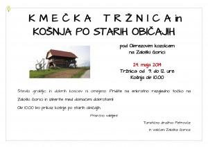 KMEČKA TRŽNICA IN KOŠNJA PO STARIH OBIČAJIH @ Obrezov kozolec, Zaloška gorica | Petrovče | Žalec | Slovenija