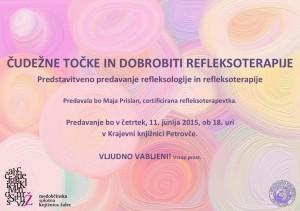 Čudežne točke in dobrobiti refleksoterapije @ Krajevna knjižnica Petrovče