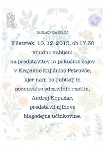 Zakladnica zelišč @ Krajevna knjižnica Petrovče